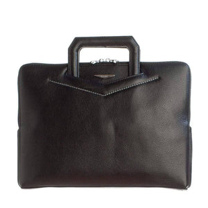 luxury Italian leather slim work bag