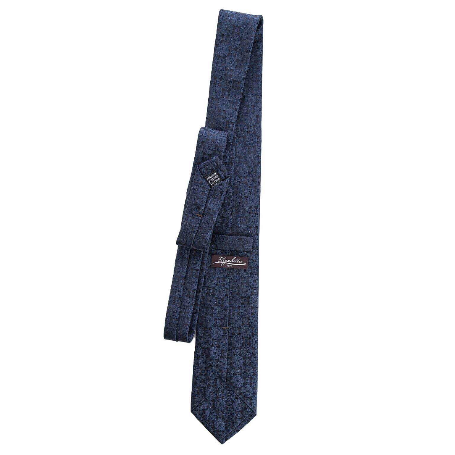 formal dark blue silk Italian tie
