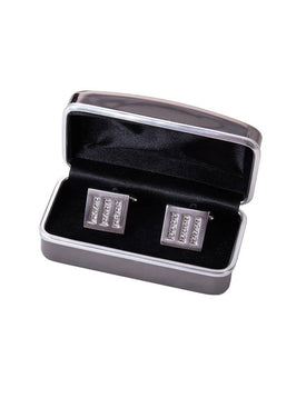 Tintoretto-Crystal Stripe Cufflinks - Cufflinks