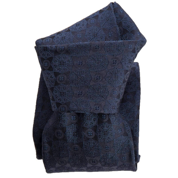 Mens Italian Silk Tie - Midnight Blue - Formal