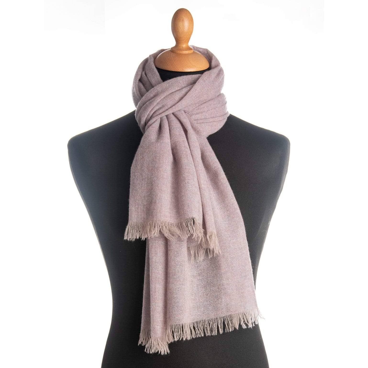 Claudia - Cashmere Scarf Shawl - Heather