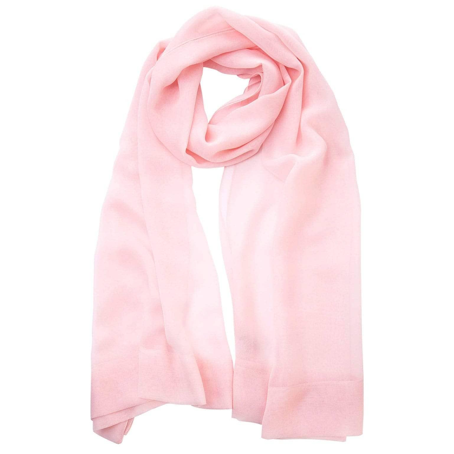 Pink Chiffon Shawl - Sheer Italian Silk Evening Wrap