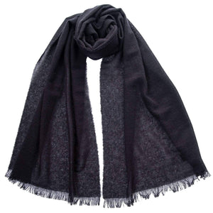 Black Cashmere Scarf - Made in Italy - Lightweight