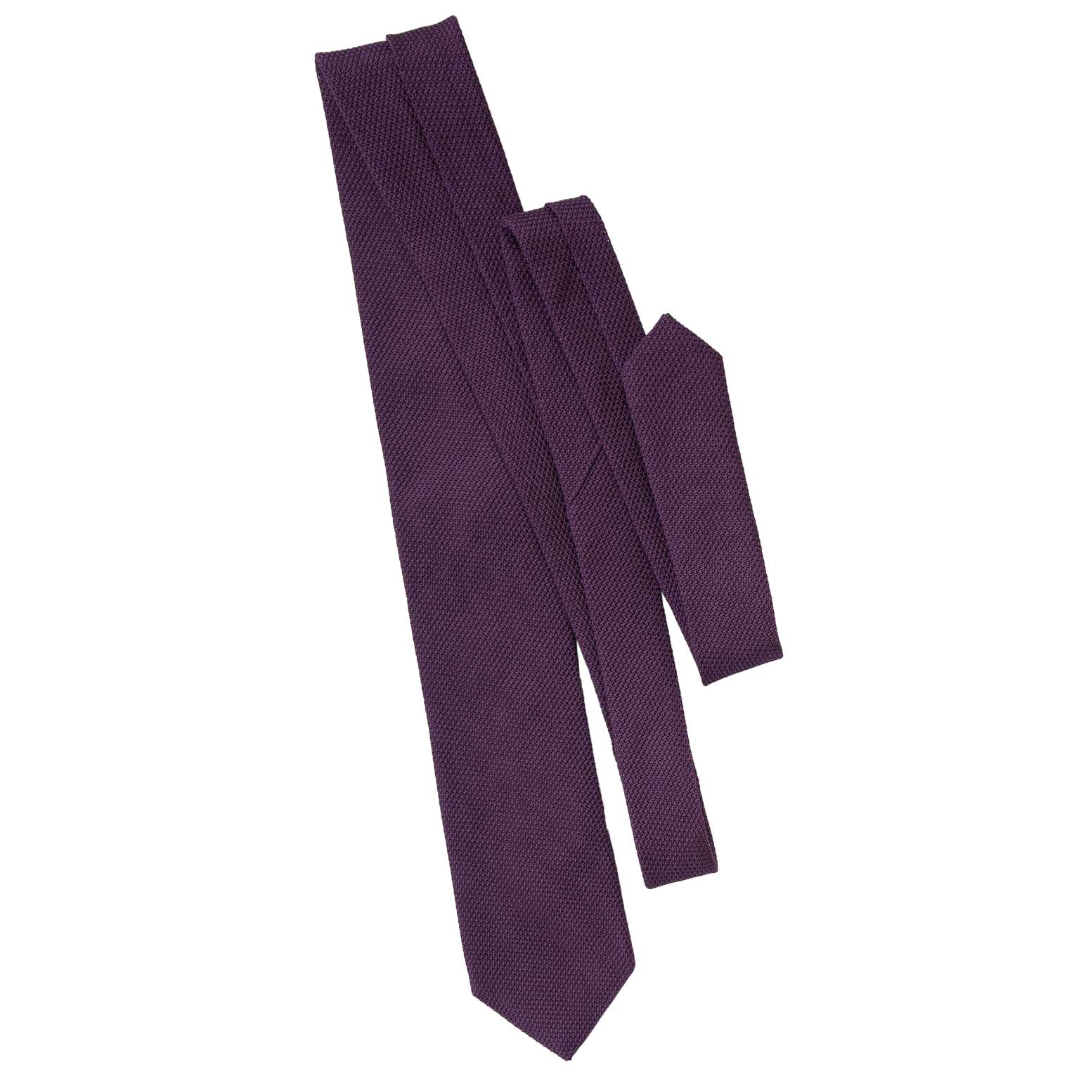 purple silk grenadine mens neck tie