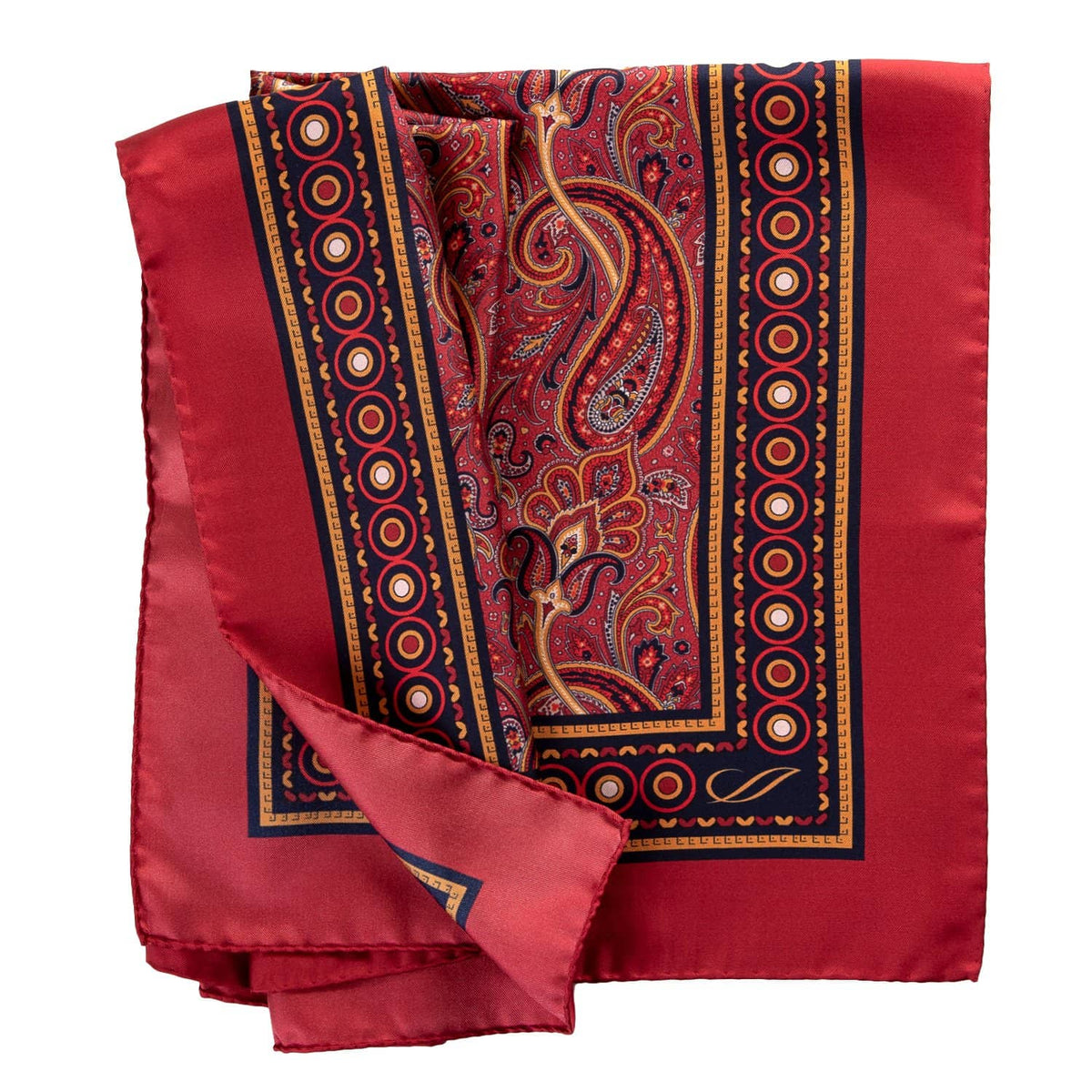 red silk paisley large bandana