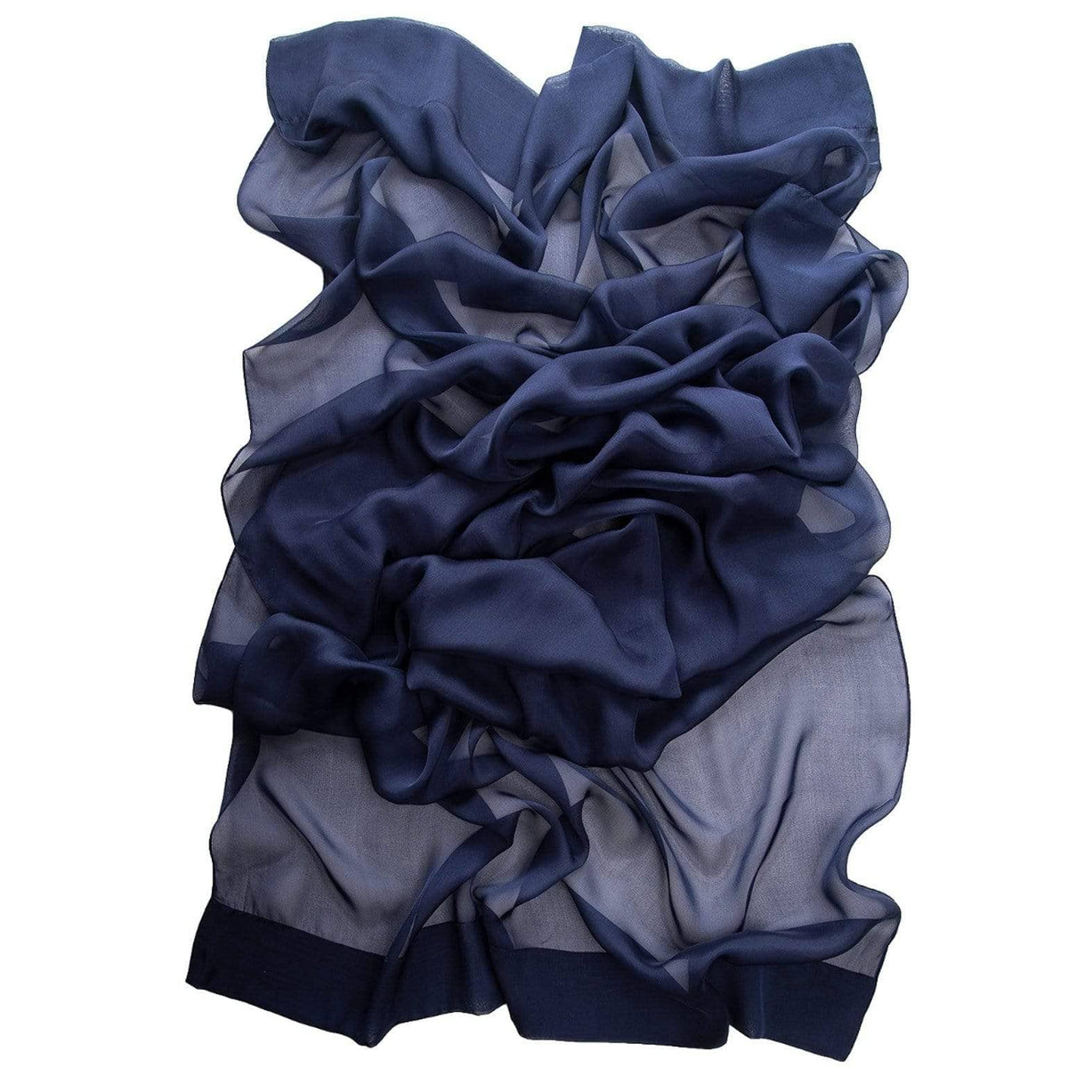 midnight blue silk chiffon wrap