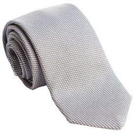 Argento-Grenadine Fina Silk Neck Tie - Luxury Neck ties