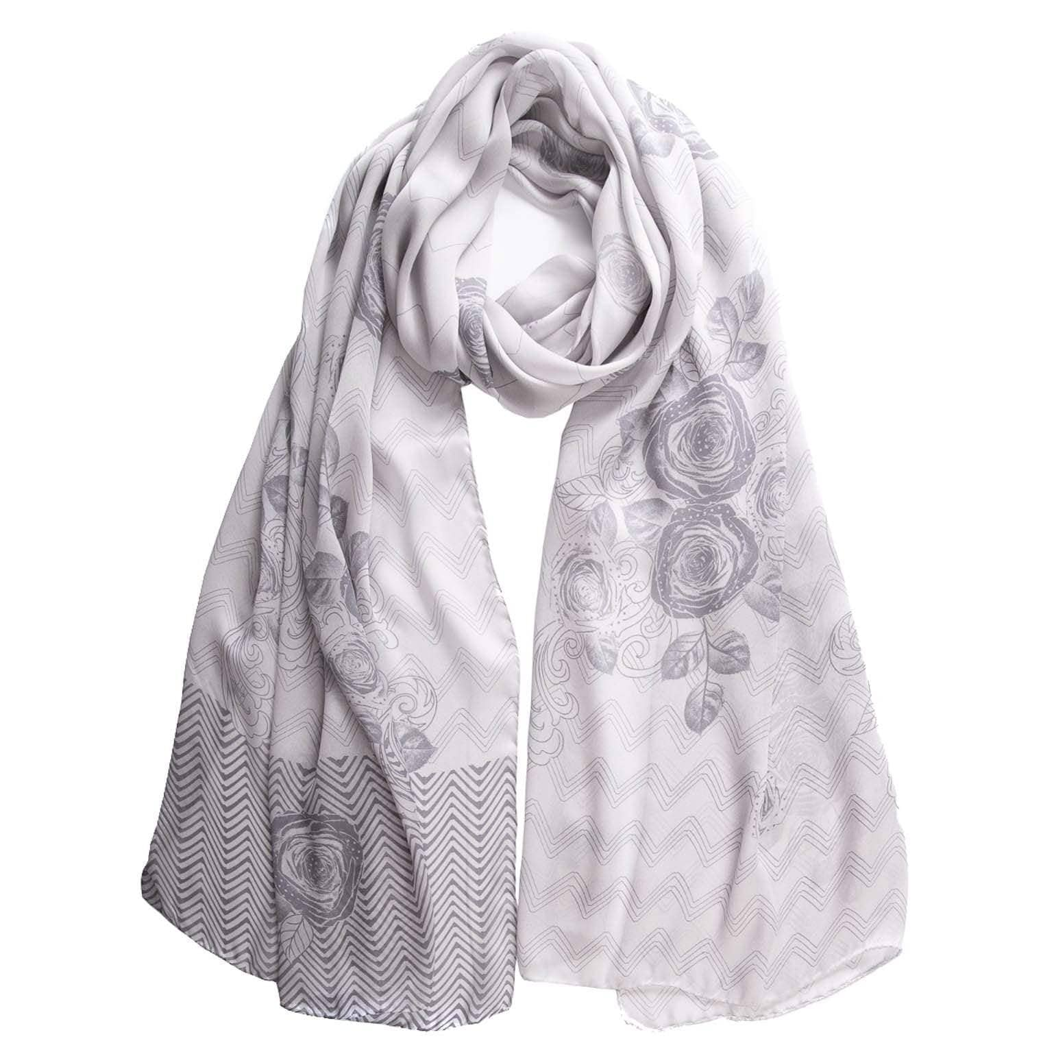 Silver Formal Shawl - Silk Satin Charmeuse Wrap