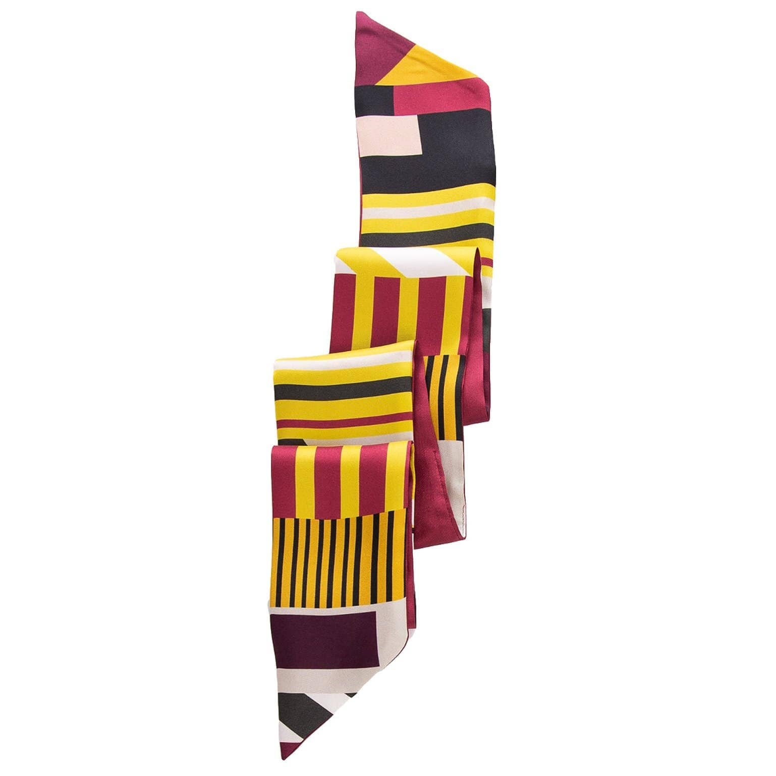 ladies skinny silk scarf from Italy