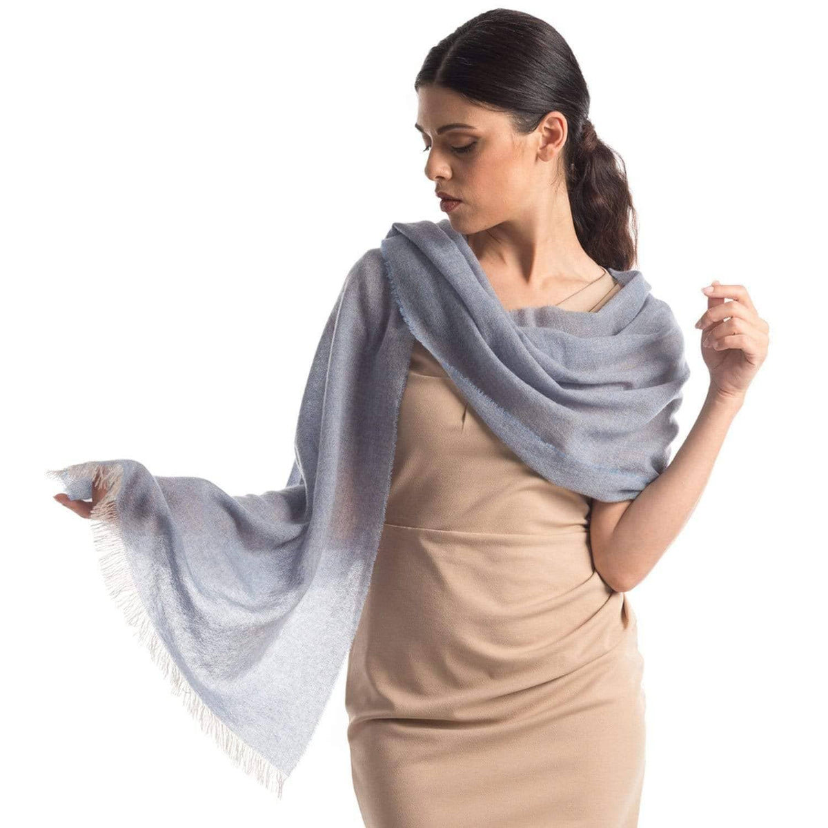 luxury cashmere shawl made in Italy