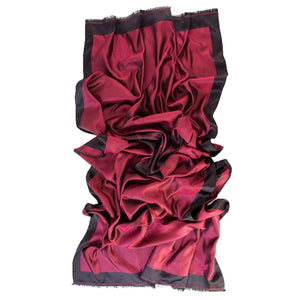 Red Evening Wrap - Formal Shawl - Italian Silk