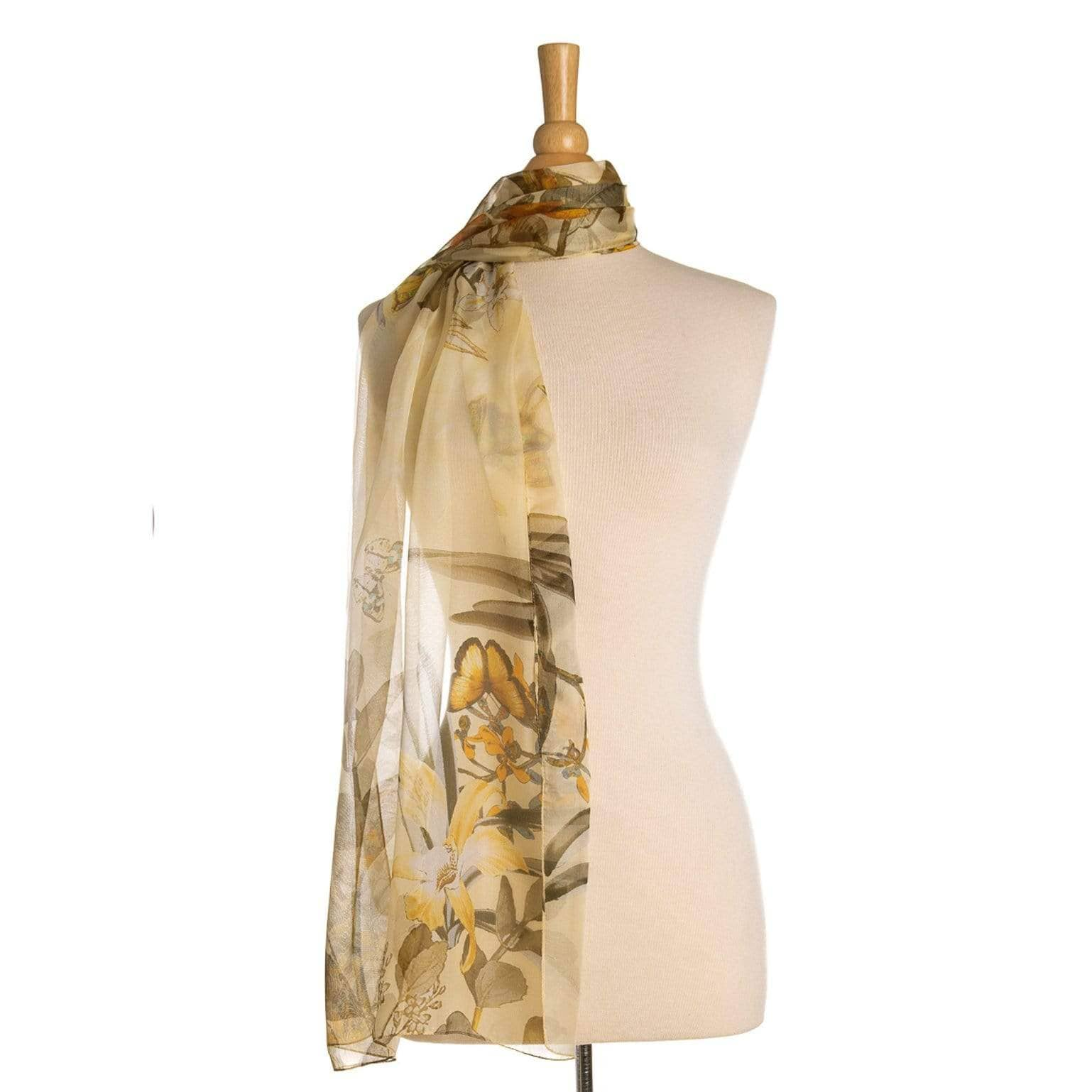 womens yellow chiffon scarf wrap
