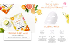 Load image into Gallery viewer, VITAMIN C 1-PIECE SHEET MASK (Hyaluronic Acid)
