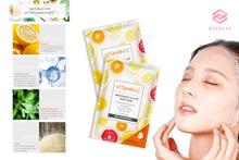 Load image into Gallery viewer, VITAMIN C 5-PIECE SHEET MASK BOX (Hyaluronic Acid)