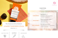 Load image into Gallery viewer, VITAMIN C SUNSCREEN LOTION  (SPF50 PA++++ UVA UVB Protection)