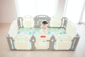 DWINGULER Castle Playpen - Grey