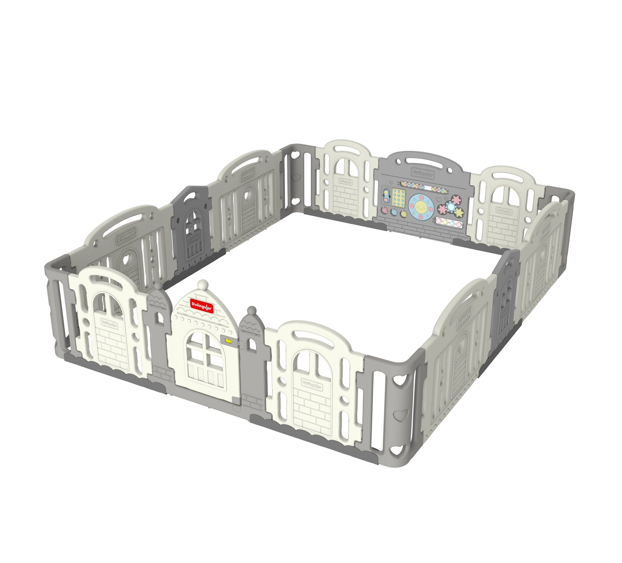 DWINGULER Castle Playpen Extension Kit XD x2-Grey