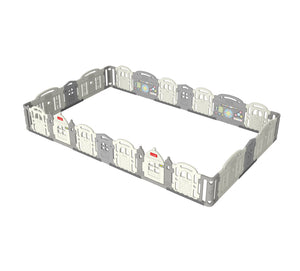 DWINGULER Castle Playpen Extension Kit XQ x4-Grey