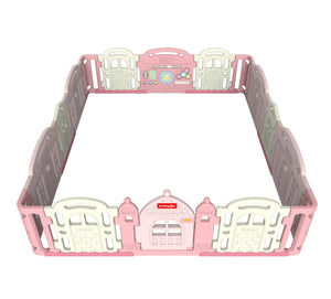 DWINGULER Castle Playpen Extension Kit XD x2-Baby Pink