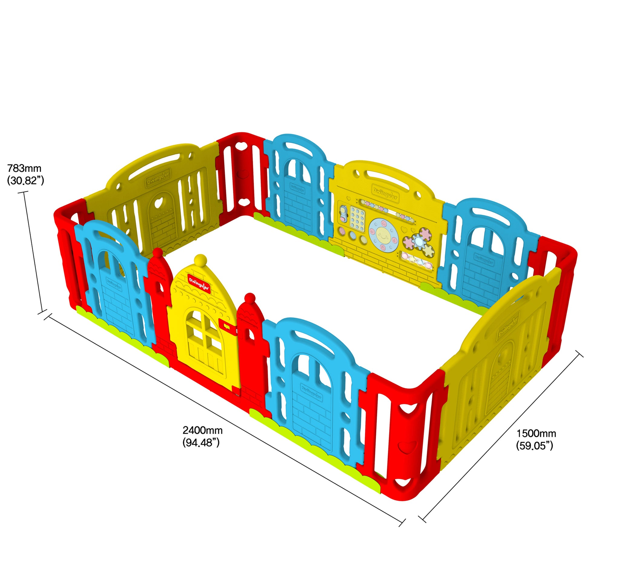 DWINGULER Castle Playpen-Rainbow