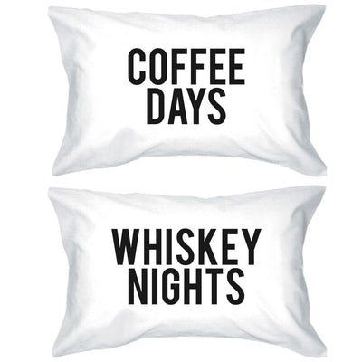 Coffee & Whiskey Pillow Case Set