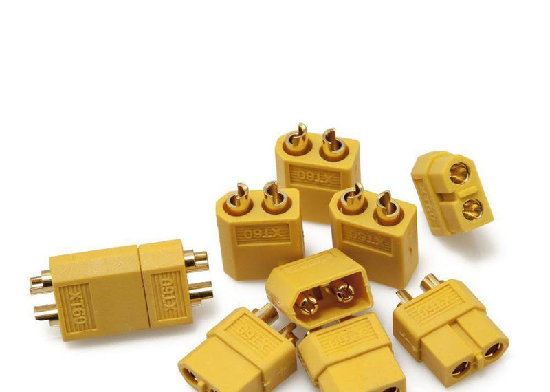 Excel RC - EX-10053 XT60 Connectors Pair (1 Male / 1 Female) Yellow