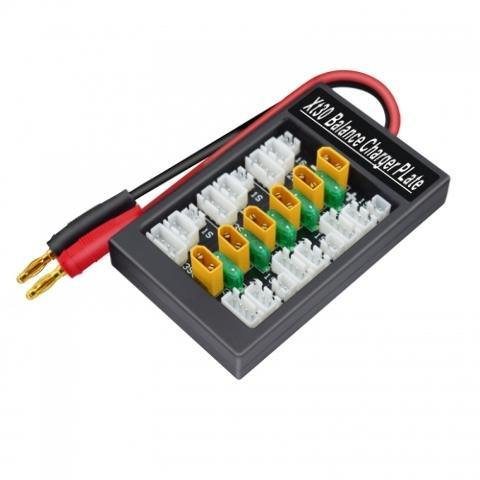 ExcelRC 4mm Plug to TX30 Parallel charging board with 30A fuse Plug type: US