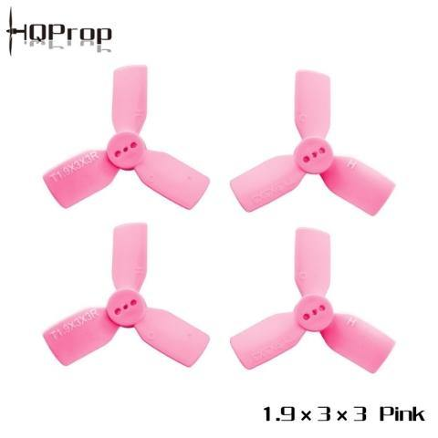HQ Durable Prop T1.9X3X3 Light Pink (2CW+2CCW)-Poly Carbonate