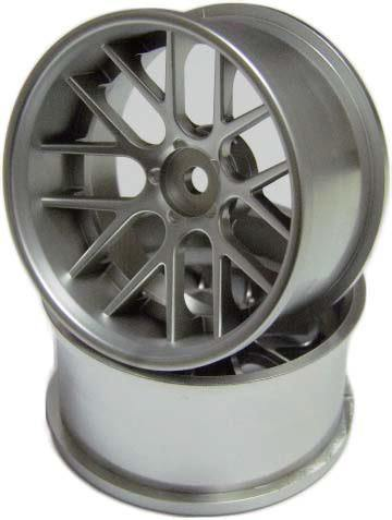 Top Line (NFW-081MS) NF WHEEL ver.71 OFFSET-8 MATTE SILVER