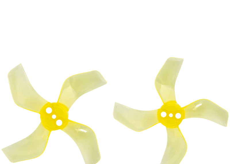 Gemfan 1636 40mm Durable 4 Blade 1.5mm Clear Yellow 4L&4R