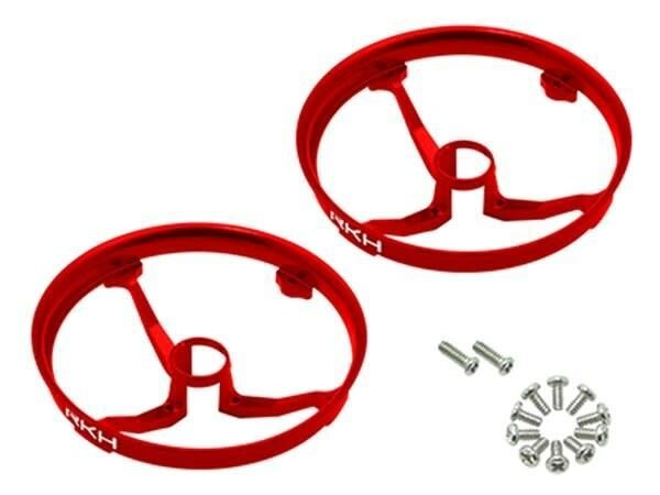 Rakon CNC AL Propeller Guards (Red) - Blade Inductrix