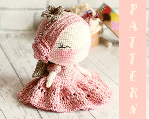 Amigurumi Doll Teddy Bear Security Blanket Crochet Pattern Knitted ... | 384x480