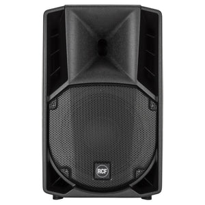 "Black RCF ART 710-A MK4 10"" Active Two-way speaker front"