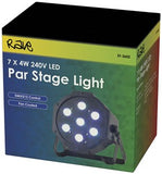 Rave 7x4W RGB LED Par Stage Light Box View