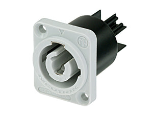 Grey / Black Neutrik NAC3MPB-1 Powercon O/put P/Mount