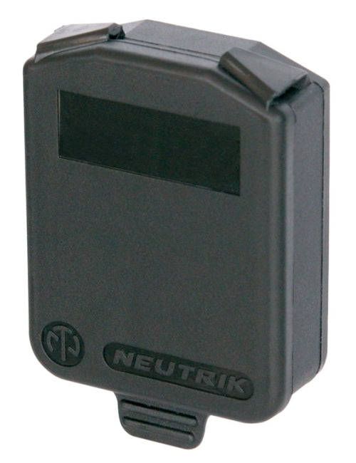 Grey / Black Neutrik SCDX D Size Panel Mount Dust Cover