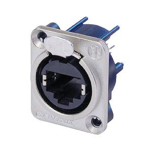 Silver / Blue Neutrik NE8FDV-YK RJ45 Panel Mount Receptacle