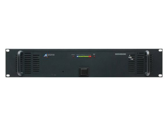 500w power amplifier DCM500 black front panel