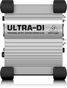 Silver/Grey Ultra-DI - DI100 professional battery/phantom powered DI-BOX Behringer Top Panel