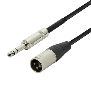 Swamp XLR Male to 6.5mm Stereo Jack 3m Black / Silver