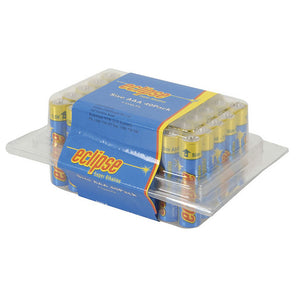 Blue / yellow Eclipse AAA Alkaline Battery 40 pack