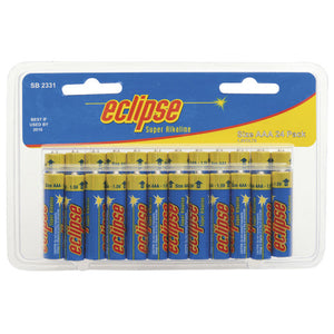 Blue / yellow Eclipse AAA Alkaline Battery 24 Pack