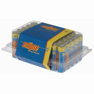 Blue / yellow Eclipse AA Alkaline Battery 40 Pack