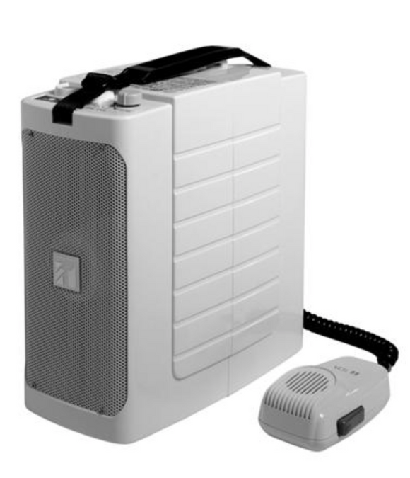 TOA ER604W Portable PA w/Whistle 6w White