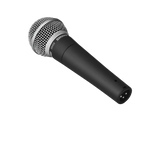 Black / silver Shure SM58 Microphone