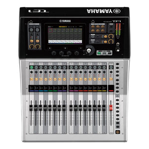 Yamaha TF1 Digital Mixing Console Black Silver Over head view