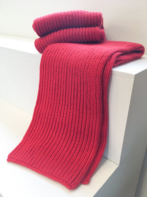 Northern Watters Wide Scarf (Cherry)