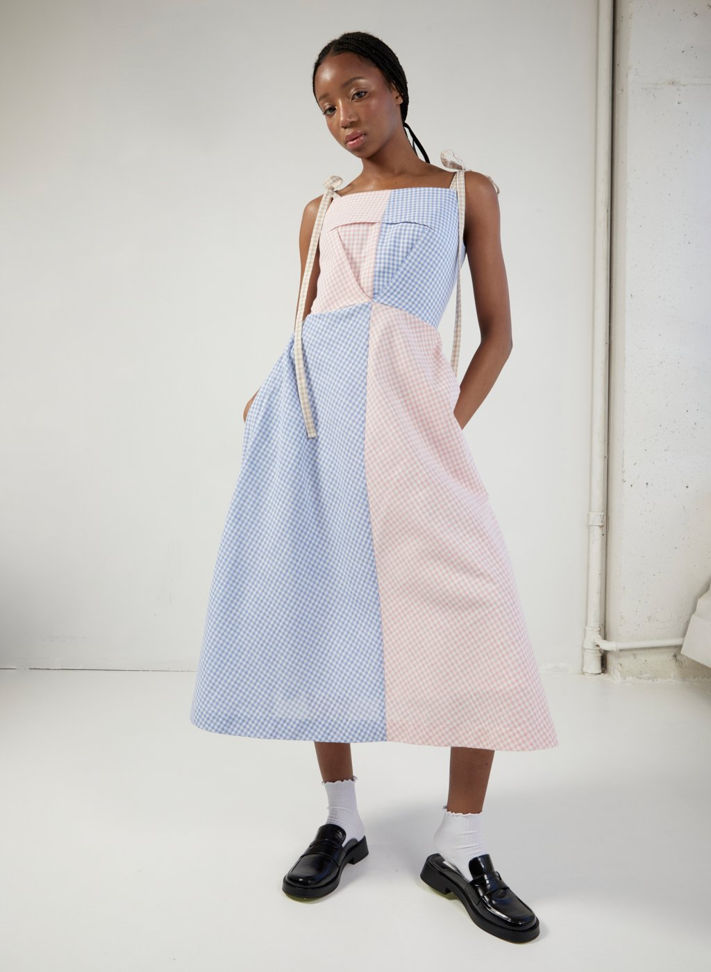 Eliza Faulkner Half/Half Dress (Gingham)