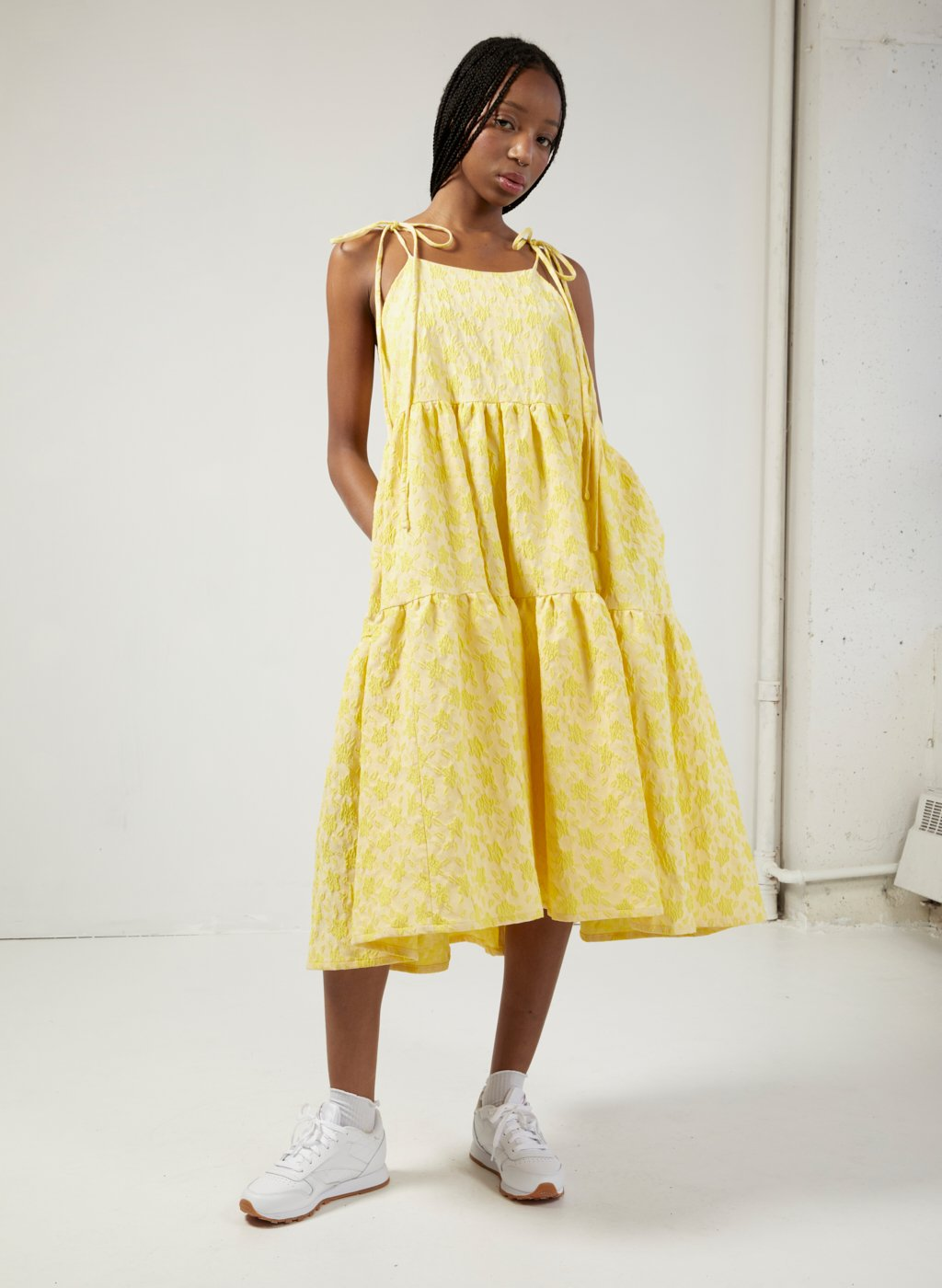 Eliza Faulkner Cece Dress (Yellow Jacquard)