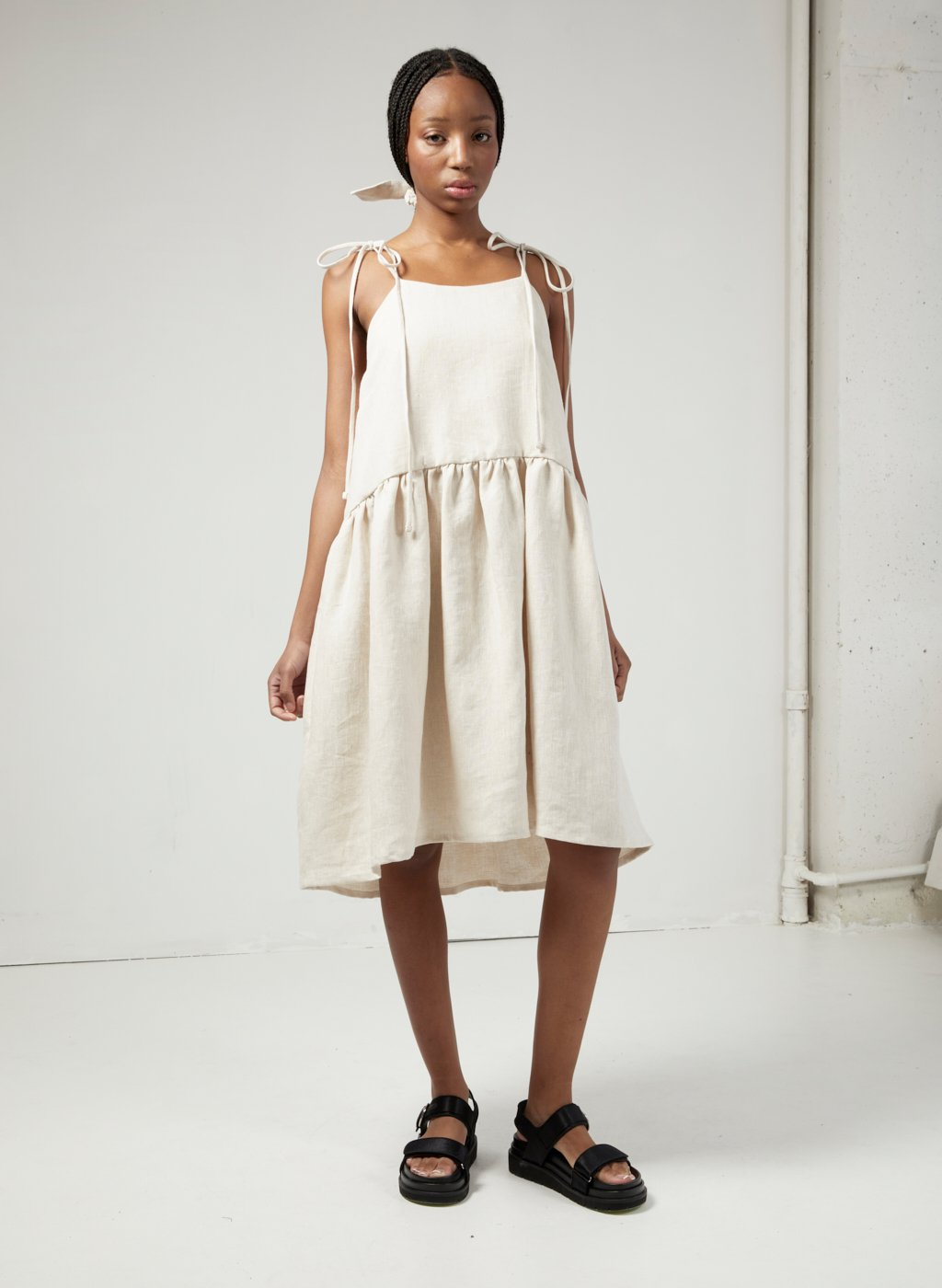 Eliza Faulkner Tig Dress (Raw Linen)